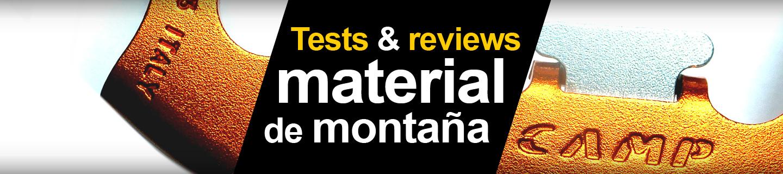 prueba, test & review equipo y material de montaña